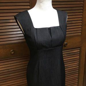 Calvin Klein Chambray Black Sheath Dress